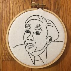Nicolas Cage Embroidery Art Work You Don't by FrontRoomStitches