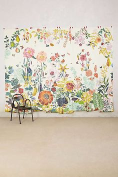 How great would this Anthropologie wallpaper look in a little girls room?!