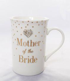 Mother Of The Bride Mug Diamante Keepsake Thank You Gift Favour Wedding Present: Amazon.co.uk: Kitchen & Home