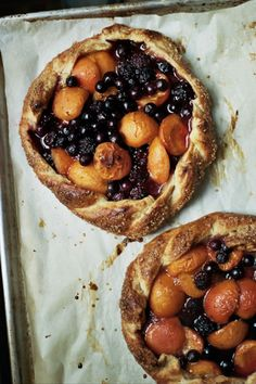 birdasaurus: Berry and Apricot Galettes