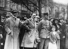 Adolf Hitler, Alfred Rosenberg (left) and Dr. Friedrich Weber, at the time of the Munich putsch. 1923