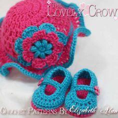 New Born Crochet Patterns Teaparty Set  Includes by ebethalan, $10.75