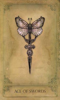 Ace of Swords ~ Steampunk Tarot card by Bethalynne Bajema. - Ace of Swords ~ Steampunk Tarot card by Bethalynne Bajema. You are in the right place about Ace of S - Detailliertes Tattoo, Ouija Tattoo, Ace Of Swords, Card Reading, Tarot Decks, Tarot Readers, Tarot Cards, Divination Cards, Runes