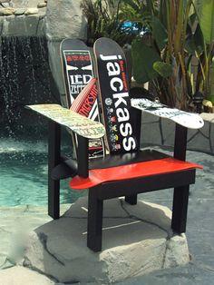 Skateboard chairs