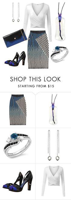Blue White Black is Back David Koma, Maje, Blue And White, Black, Fountain, Colorful, Polyvore, Beautiful, Fashion