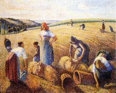 Camille Pissarro the Gleaners. He was a danish french painter, born in the Westindies