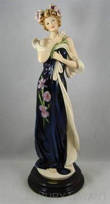 Pictures of Armani Porcelain   Giuseppe Armani 1336C Spring Iris Porcelain Figurine LE3000 1999 ...