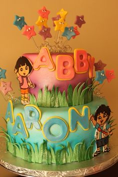 Dora and diego cake let's see if I can recreate for their Bday this year