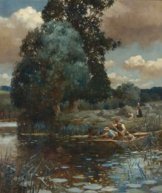 Alfred James Munnings (1878-1959), A Summer Afternoon - 1902