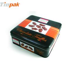 Cookies tin box with custom design http://www.tinpak.us/Products/Squarecookiestinbox.html