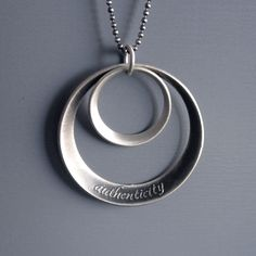Authenticity Necklace  inspirational etched by lisahopkins on Etsy, $78.00