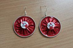 Boucles d'oreilles capsules Nespresso rouge : Boucles d'oreille par masha-boutique