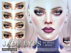 Jade Eyes N69 by Pralinesims at TSR via Sims 4 Updates