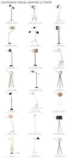 """Today we are talking lighting, more specifically lighting when trying to achieve the """"California Casual"""" style we have been breaking down on the blog the last two weeks. In case you missed the previous posts, click through to California Casual: On a Budget, California Casual: Furniture, andCalifornia Casual: Art to get the gist of... Read More …"""