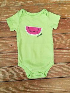 Baby Starters 12 months green watermelon onesie