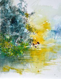 "Saatchi Art Artist: Pol Ledent; Watercolor 2014 Painting ""watercolor 116013"""