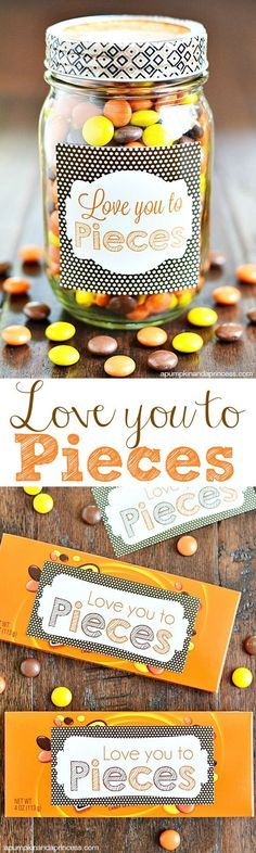 Love you to pieces gift and printable tag
