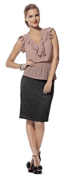 Ignite Platinum Lace Skirt $39.99  Ignite Platinum Ruffle Top $39.99