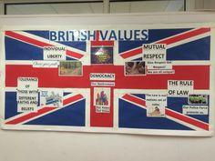 British Values display board Class Displays, School Displays, Classroom Displays, Primary Education, Primary School, Pre School, Ks2 Display, Display Ideas, British Values Display