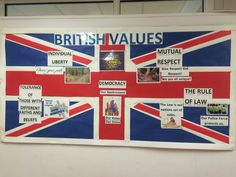 British Values display board