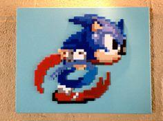 Jumbo Sonic Perler Bead Pixel Art by ThePixelArtShop