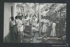 Postales: Islas Carolinas.Saipan.Misión de Carolinas.Mercedarias.Clase de música.Postal.Post-card. - Foto 1 - 59529387