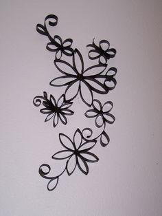 Toilet paper roll art. Flowers.