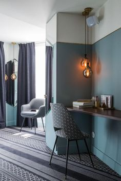 Hotel Panache embraces it's inspiration from the Art Nouveau design, placed in the arrondissement of Paris. Modern Interior Design, Interior Architecture, Modern Interiors, Hotel Panache, Hotel Room Design, Design Bedroom, My New Room, Restaurant Design, Room Interior