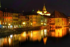 Solothurn at night II by Mathias Laurig
