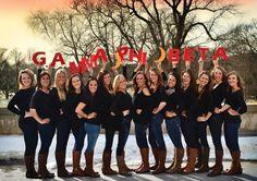 Gamma Phi Beta at Iowa State University #GammaPhiBeta #GammaPhi #letters #sorority #IowaState
