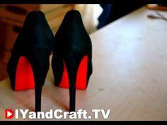 DIY Red Bottom Heels | Louboutin Inspired
