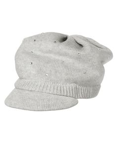 Fashionably snug. Soft sweater hat with a brim features allover rhinestones for a touch of shine. WARNING: CHOKING HAZARD - Small parts. Not for children under 3 yrs.