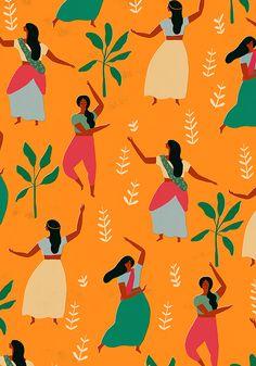 indian dance pattern by Naomi Wilkinson