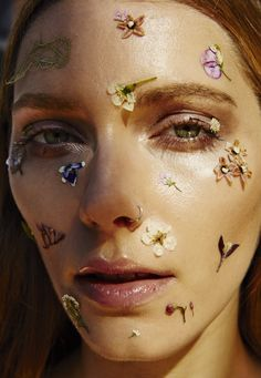 Makeup and pressed flower look by Filomena Natoli www.filomena.com.au @michaelnaumoff photographer