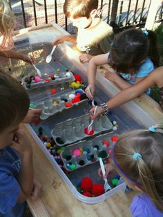 sensory table idea!