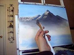 Painting With Magic ( Blue Mountain Of Kentucky) season 3 ep 8 wet on wet oil painting - YouTube