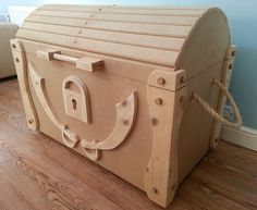 Found it at Wayfair - Pirate Style Wooden Treasure Chest in Brown ...