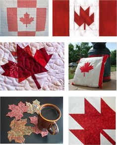 Quilt Inspiration: PATTERN Archive Aprons/Autumn leaves/bargello quilts/basket quilts/bird houses/Canadian flag/chickens and roosters/Christmas trees/cupcakes, ice cream cones lollipops/denim quilts/dresden plates/Easter/ Halloween/ Paper Piecing Patterns, Quilt Patterns Free, Free Pattern, Sewing Patterns, Flag Quilt, Patriotic Quilts, Quilt Blocks, Canadian Quilts, Canadian Flags