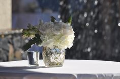 Love the Mercury Glass!!!!!  Dellables Blog - Maui Wedding Flowers
