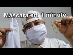 Mascara em 1 minuto apenas - cloth mask in 1 minute - Use Mascara para t. Diy Mask, Diy Face Mask, Youtube, Sewing Basics, Helpful Hints, Creations, Medical, Clothes, Handmade