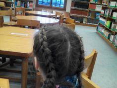 Two dutch braids.