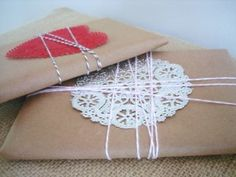 brown paper packages tied up with string-Christmas ready