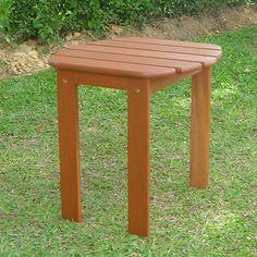 Patio Indoor Outdoor Side Stool Table Furniture Durable Teak Finish Wood Sturdy #SideTable