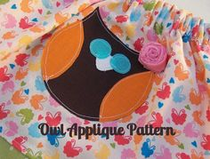 PDF Owl Applique Pattern by paperfromheaven on Etsy, $1.95