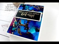 Alcohol Inks & Foiling featuring Kraftin Kimmie Stamps - YouTube. Like her finished card. Another person putting foil on the sticky parts of the alcohol inks