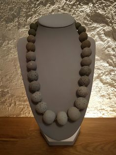 Beaded Necklace, Jewelry, Minerals, Silver, Creative, Beaded Collar, Pearl Necklace, Jewels, Schmuck