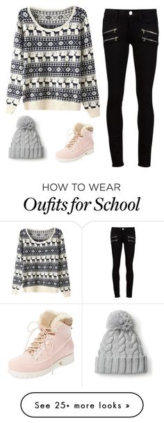 """Christmas day in school"" by swenab on Polyvore featuring Paige Denim and Australia Luxe Collective"
