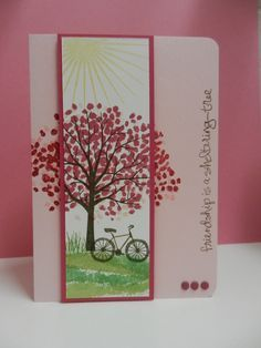 Beautiful card using Stampin' Up!'s Sheltering Tree stamp set.