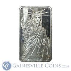 100 oz Johnson Matthey Silver Bar  - Statue of Liberty #silver http://www.gainesvillecoins.com/category/281/2014-silver-bullion-coins.aspx