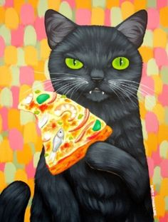 Cary Chun Lee | Cat and Pizza - Seafood Combo